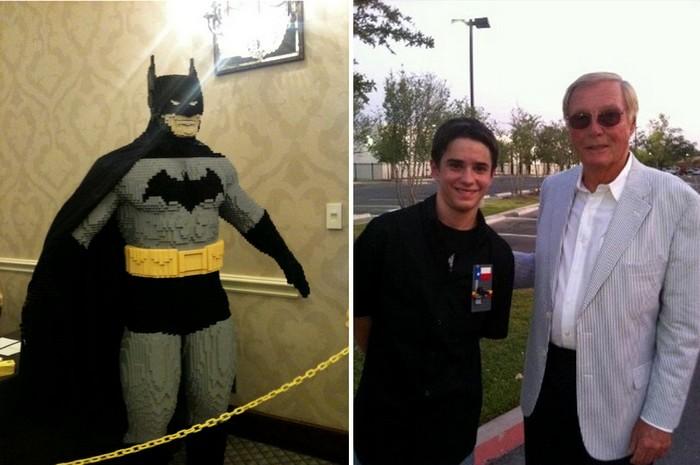 Бэтмен из кирпичиков Лего. Скульптура 13-летнего Эвана Бэкона (Evan Bacon)