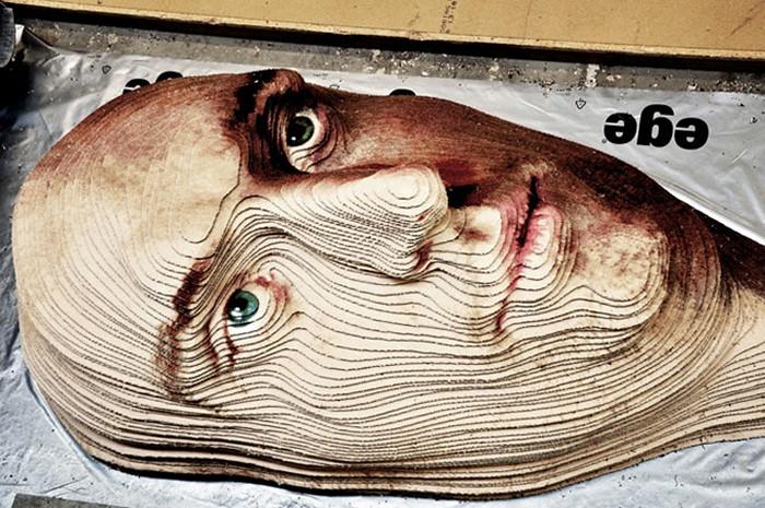 Портрет из ковра. Проект Face to Face от дизайнера Brian Frandsen
