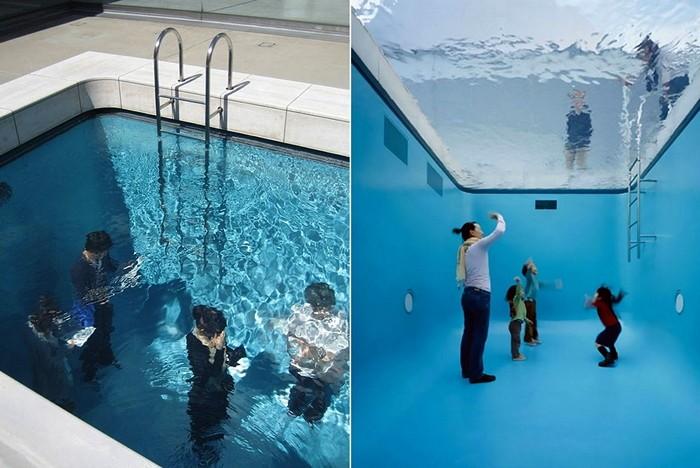 Fake Swimming Pool, инсталляция-иллюзия в исполнении Леандро Эрлиха (Leandro Erlich)
