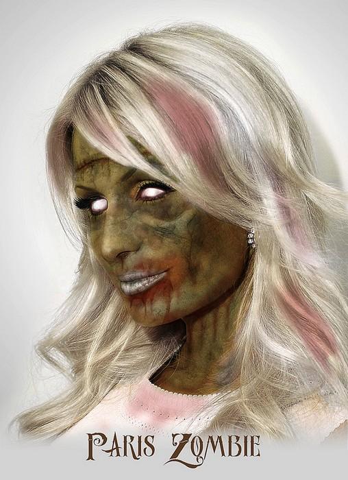 Пэрис Хилтон в арт-проекте Famous Zombies