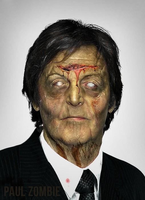 Пол МакКартни в арт-проекте Famous Zombies