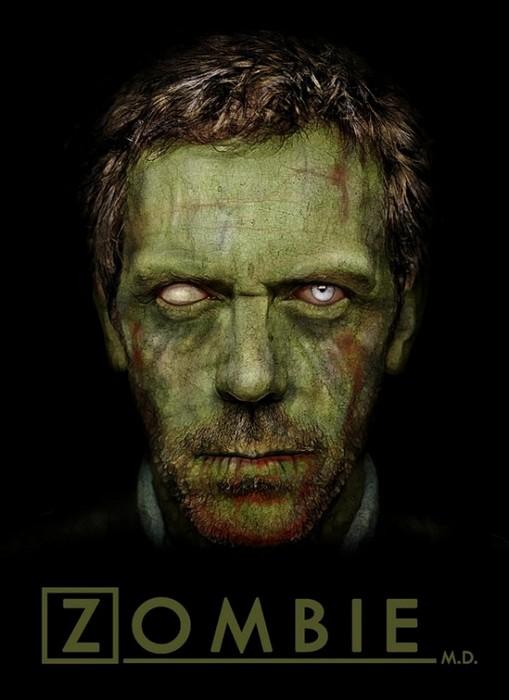 Доктор Хаус в арт-проекте Famous Zombies