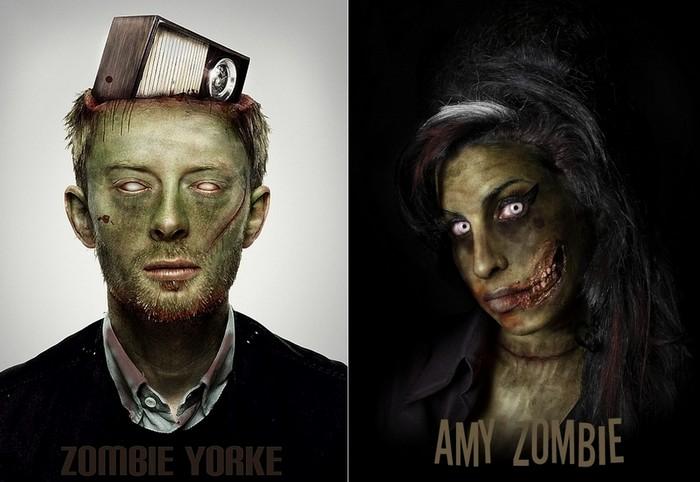 Они съедят наши мозги! Знаменитые зомби в арт-проекте Famous Zombies
