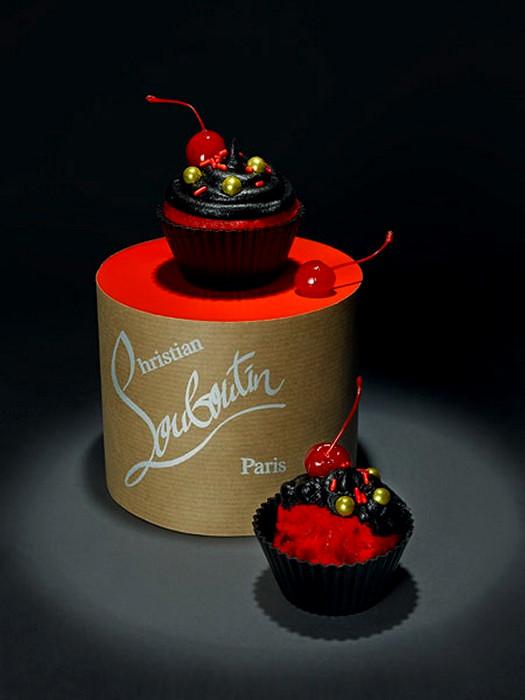 Дизайнерский кекс в стиле Christian Louboutin от  Лайзы Эдсальв (Lisa Edsalv)