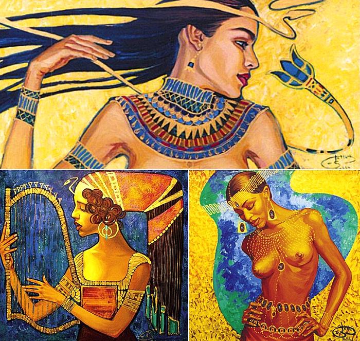 Солнечная живопись Галлы Абдель Фаттах (Fattah Hallah Abdel)