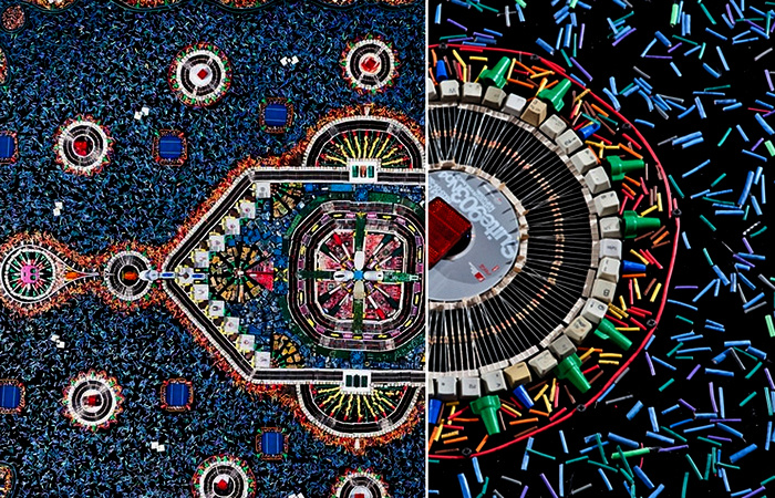 Tapete: ковер из деталей компьютера, проект Federico Uribe