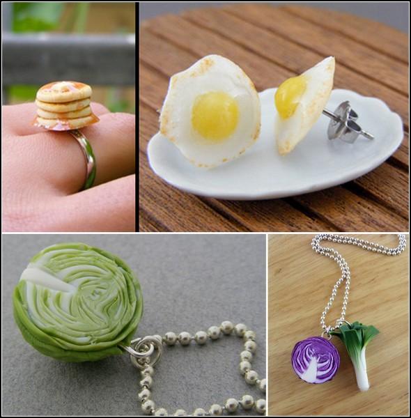 Любимые вкусные блюда - в виде украшений и мини-скульптур