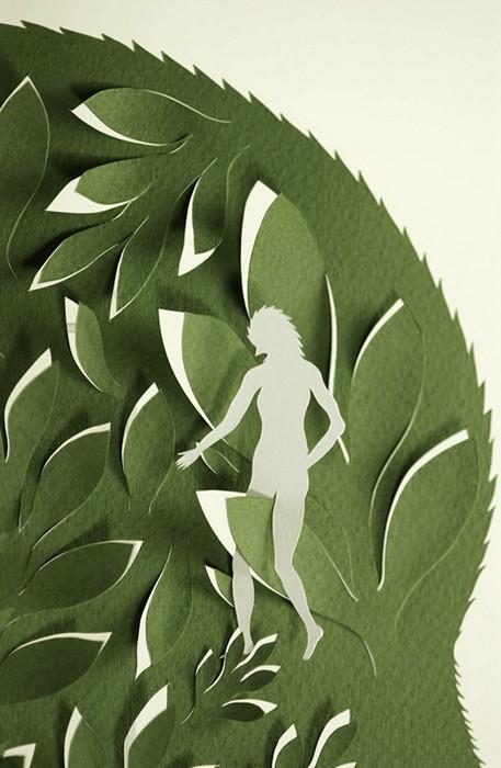 Forest of Fears, лес, вырезанный из бумаги, и затаившиеся в ем страхи