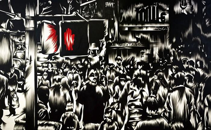 Среди толпы. Необычные картины Франчески Бифулцо из серии In the Crowd