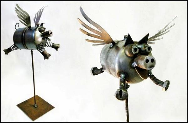 Скульптуры из металлического хлама. Metal Art Фреда Конлона