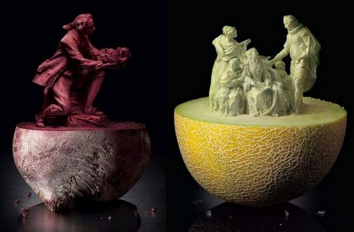 Шедевры фруктового и овощного карвинга