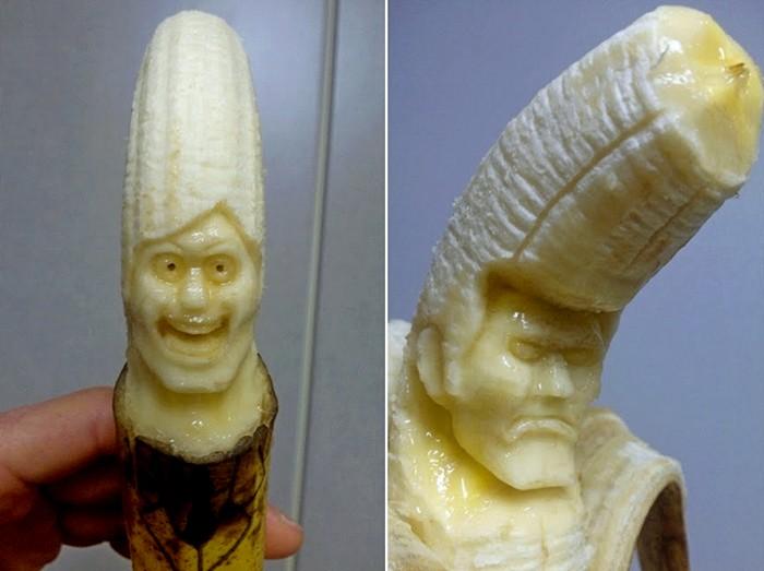 Банановые скульптуры от художника по имени Suu