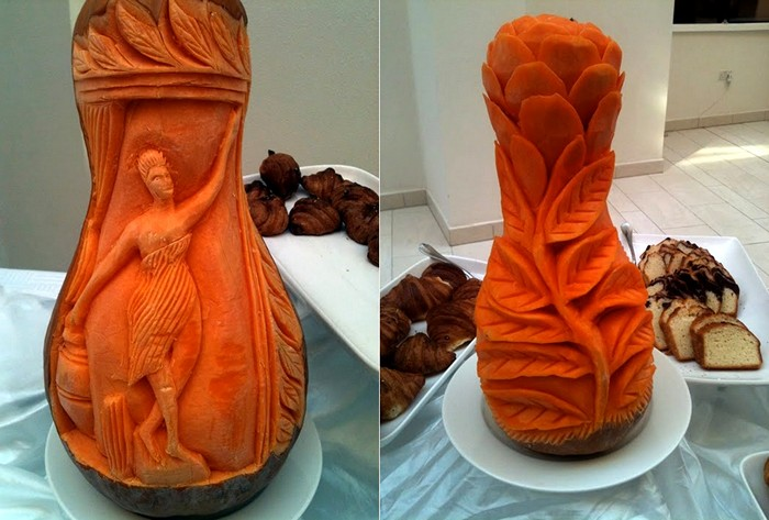 Скульптуры из тыквы не для Хэллоуина