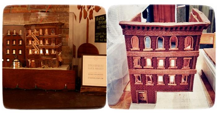 Рождественская скульптура-инсталляция Gingerbread Brooklyn