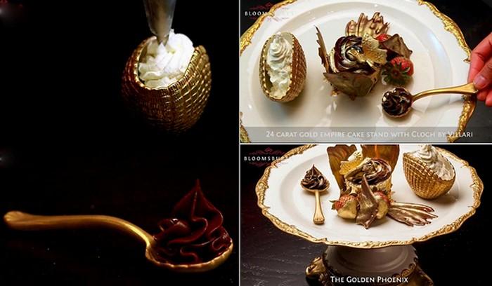 Golden Phoenix Cupcake от Bloomsbury. Самый дорогой в мире кекс