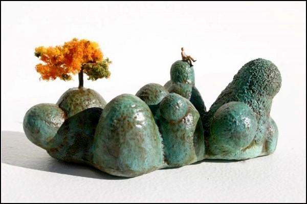 Чудесные скульптуры-пейзажи Micro Landscapes для крошечных человечков