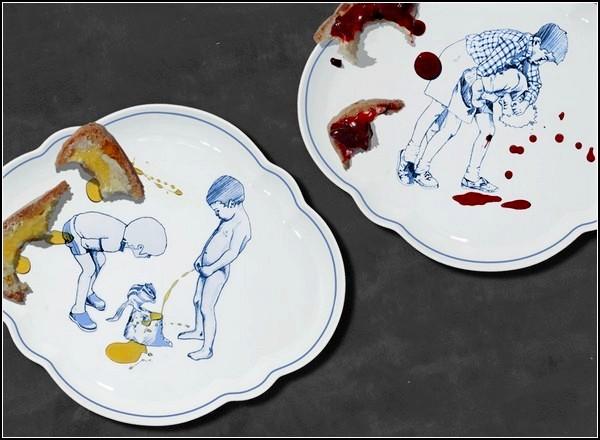 Необычные керамические блюда No Pussy Plate от Гриши Моргенштерна (Grisha Morgenstern)