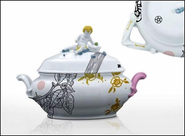 Керамическая посуда с нестандартным декором