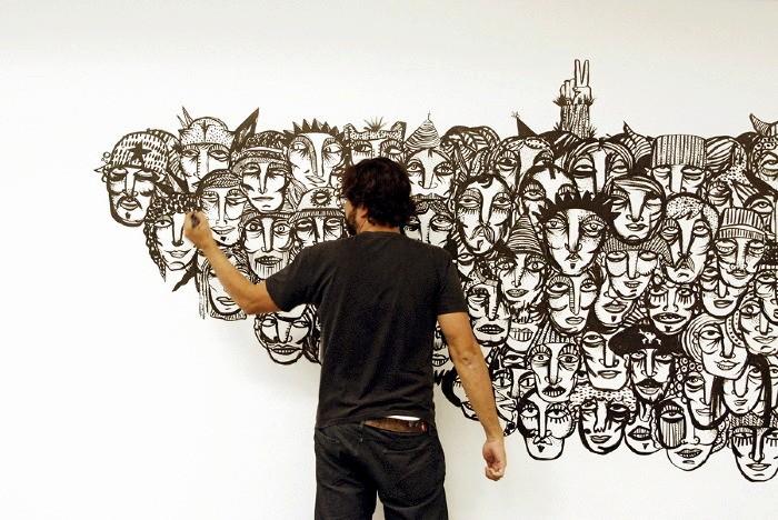 Арт-проект Гильермо Крамера *Лица в толпе*