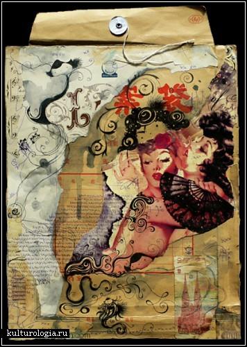 Mixed media art в исполнении Hanneke Treffers