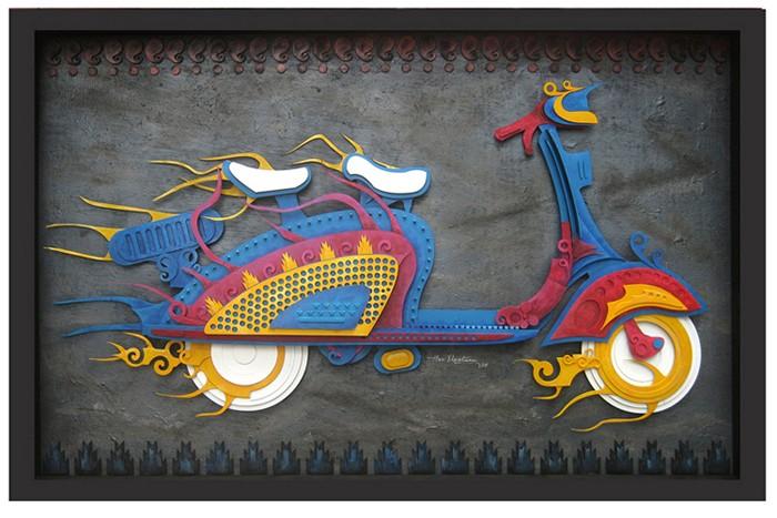 Скульптуры из электронного хлама от Харибаабу Наатесам (Haribaabu Naatesam)