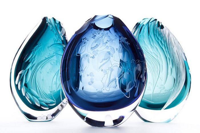 Богемское стекло с гравировкой. Хрупкие произведения искусства от Хизер Гиллеспи (Heather Gillespie)