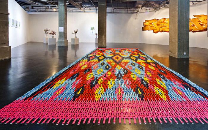 Ковры-инсталляции из наручных часов от Хайди Воет (Heidi Voet)