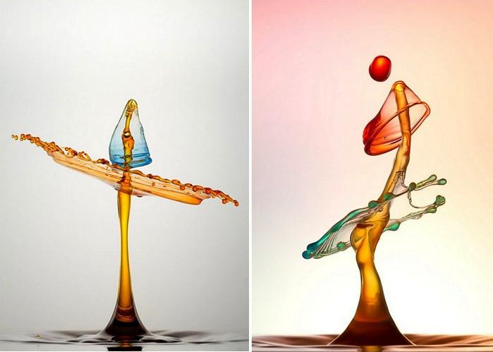 Жидкие скульптуры в фотографиях Хайнца Майера