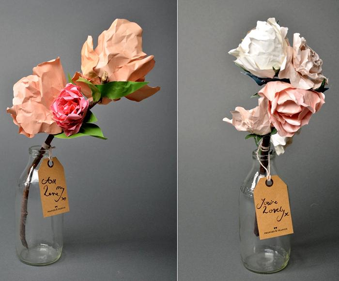 Бумажные цветочные композиции от Frances & Francis