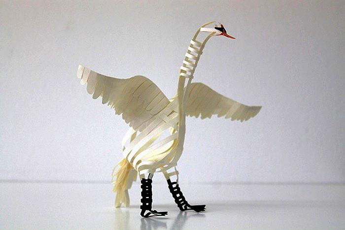 Бумажные скульптуры художницы Diana Beltran Herrera