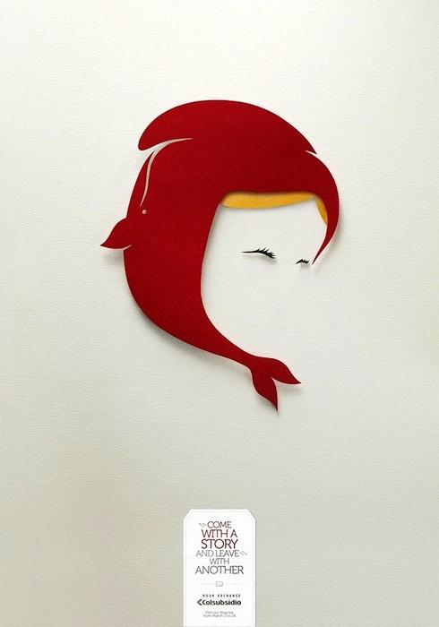 Красная Шапочка и Моби Дик. Творческая реклама книжного обменника Colsubsidio Book Exchange