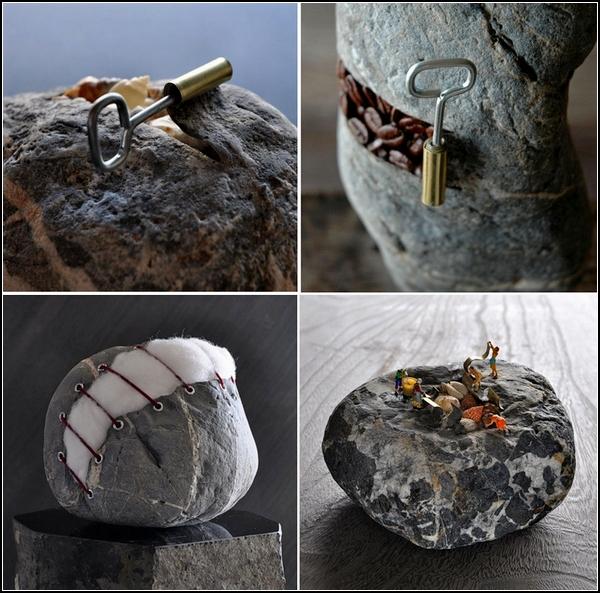 А что внутри обычных камней?