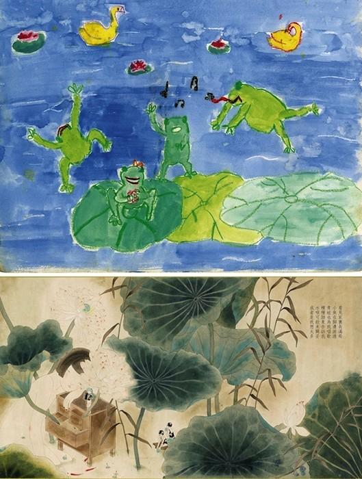 Экспозиция Homeroom: детские рисунки художников в новом исполнении. Работа Leung Ka-Yin