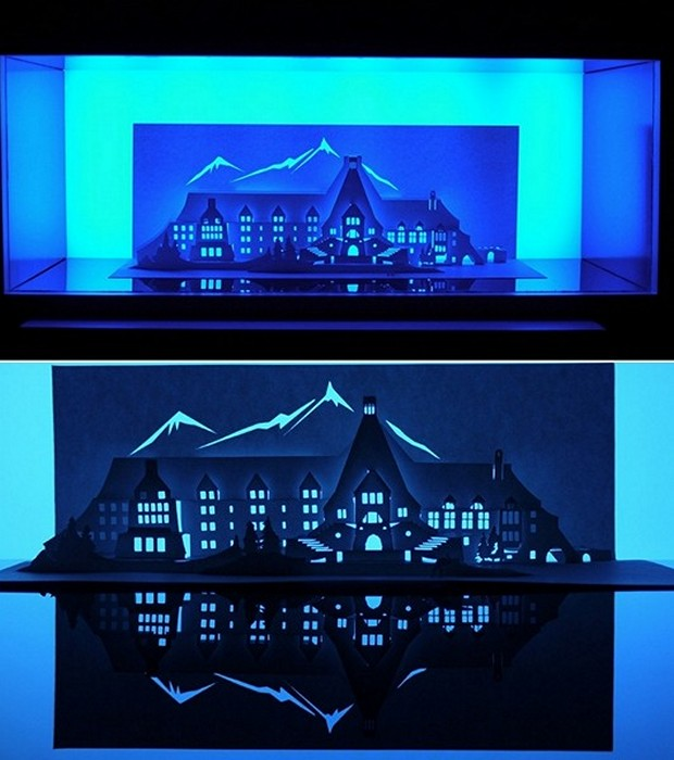 Дом из бумаги по мотивам фильма «Сияние» (The Shining). Horrorgami Марка Хейгана-Гири