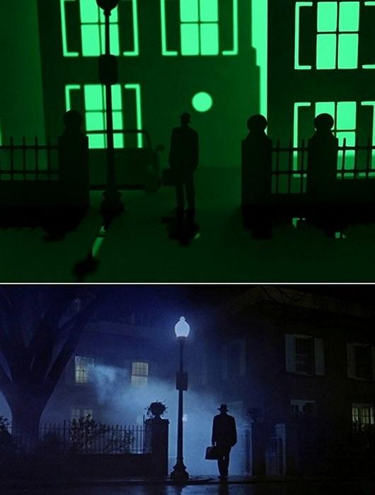Бумажный дом из фильма ужасов «Изгоняющий дьявола» (Exorcist)