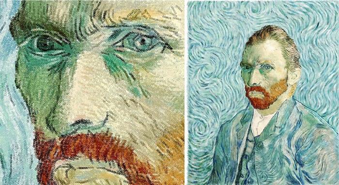 Картины из слов. Портрет Ван Гога из слова Genius, художник Huy Lam