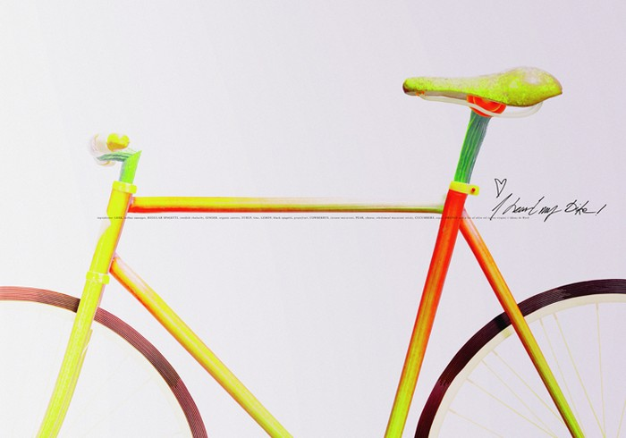 Велосипед для еды, а не для езды. Арт-проект I heart my bike