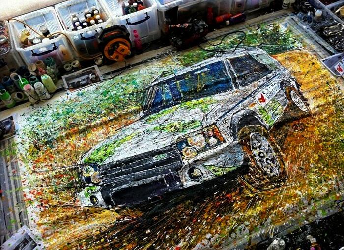 Картины художника Йена Кука (Ian Cook), любителя живописи и игрушечных автомобилей