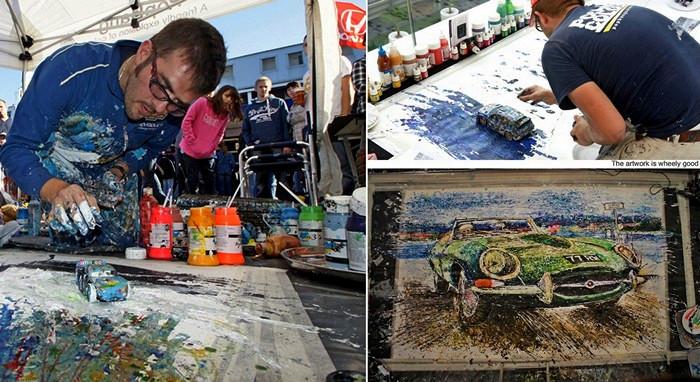 Рождение необычных картин Йена Кука (Ian Cook), нарисованных игрушечными машинками