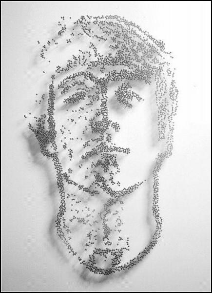Портреты-инсталляции от Яна Райта (Ian Wright)