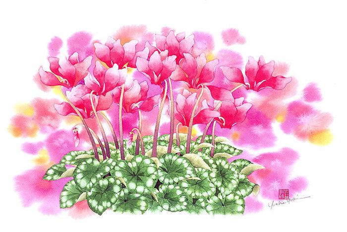 Цветочная поляна. Японские акварели Ибараги Йосиюки (Ibaragi Yoshiyuki)