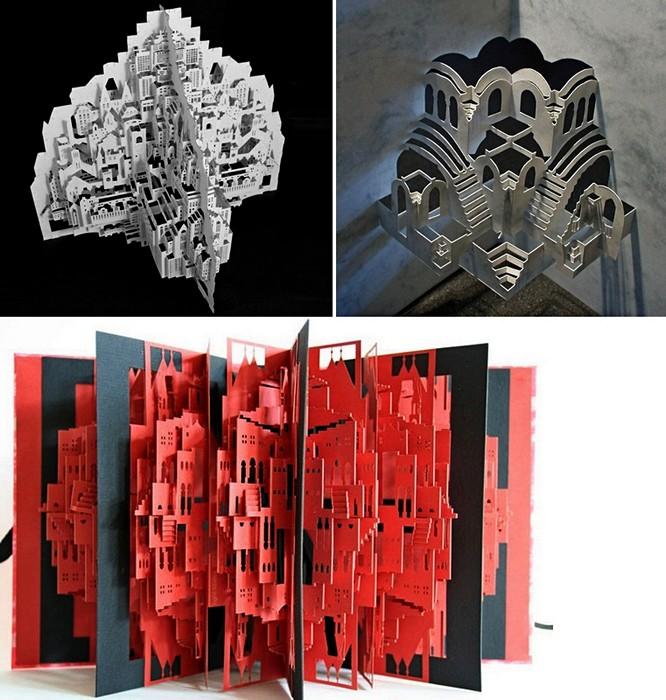 Дома-оригами, построенные из одного листа бумаги