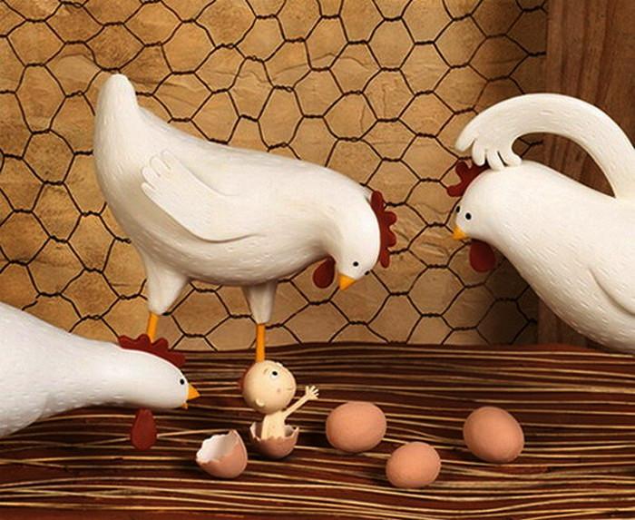 Трехмерные глиняные и пластилиновые миниатюры Ирмы Груенхольц (Irma Gruenholz)