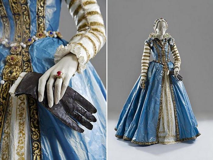 Бумажная мода времен средневековья от Isabelle de Borchgrave