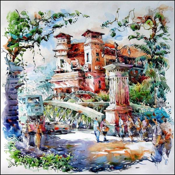 Акрилово-акварельная живопись от Jack Tia Kee Woon