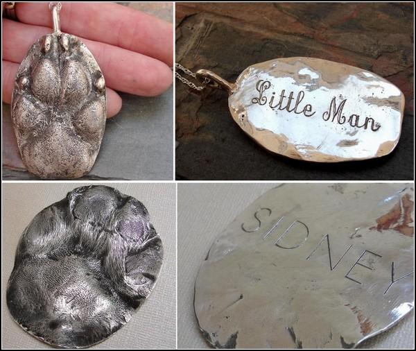 Серебряные украшения в память об умерших питомцах