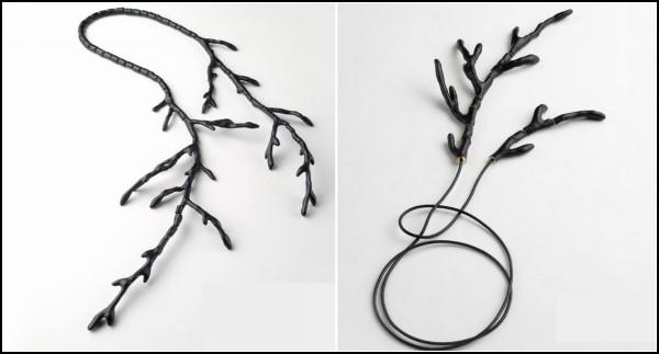 Украшения из нестандартных материалов: шерсть, рога, кисточки и галька