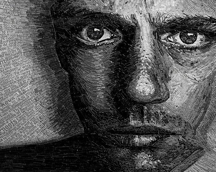 Словесные портреты Джейми Пула (Jamie Poole), составленные из кусочков текста