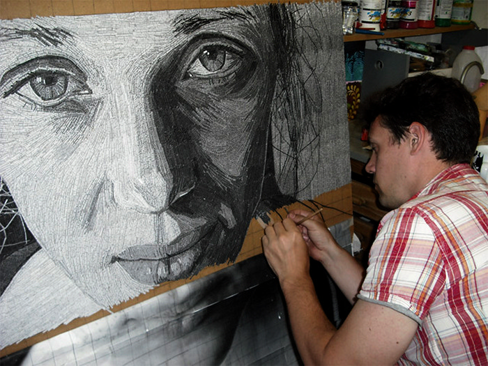Портреты из кусочков текста. Творческие работы Джейми Пула (Jamie Poole)