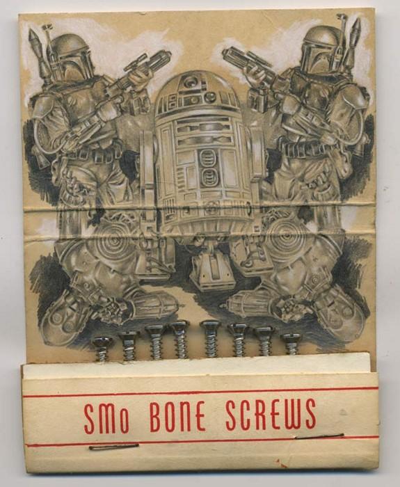 Мини-картины Джейсона Д'Акуино на коробках от спичек